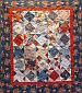 Paisley Patriotic Quilt by S. Cully.