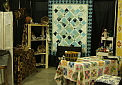 Our Booth at the Fall Calico Clipper's Quilt Show.